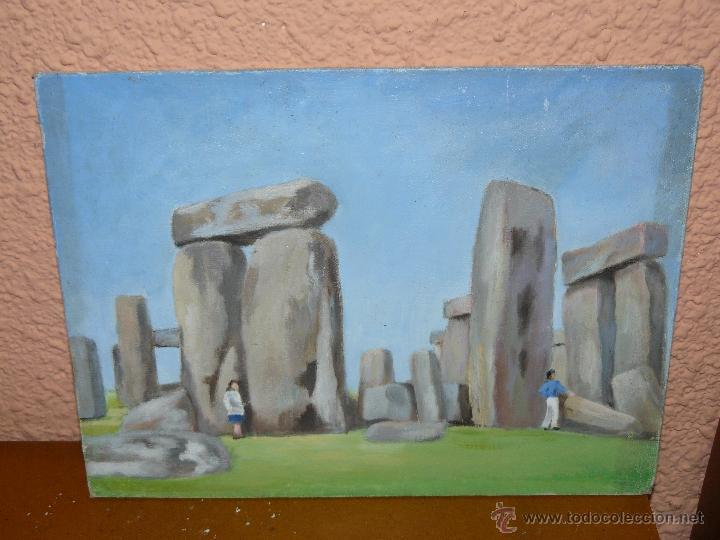 OLEO / TABLILLA ENTELADA - ANÓNIMO - STONEHENGE (Arte - Pintura - Pintura al Óleo Contemporánea )