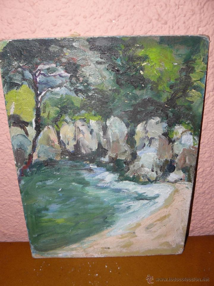 OLEO / TABLILLA ENTELADA - ANÓNIMO - PAISAJE 6 (Arte - Pintura - Pintura al Óleo Contemporánea )