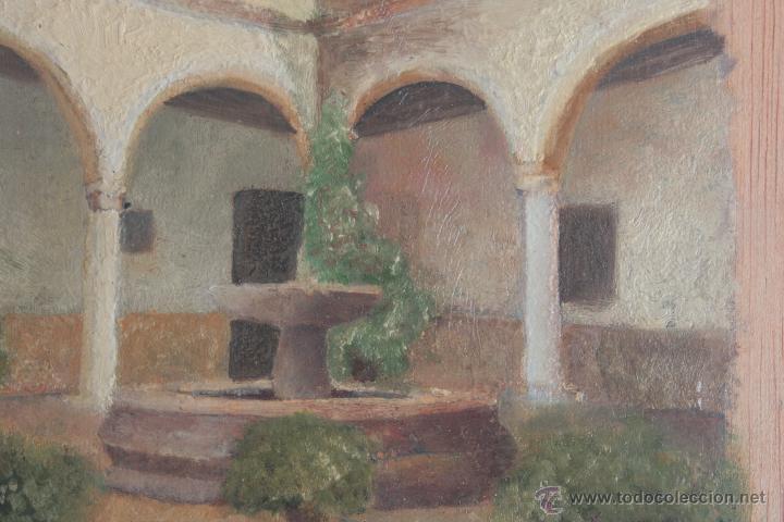 PATIO ANDALUZ. ÓLEO SOBRE TABLA (Arte - Pintura - Pintura al Óleo Contemporánea )
