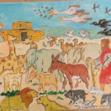 Arte: GÉNESIS .-NOÉ INTRODUCE LOS ANIMALES EN EL ARCA DE CRESPO. Lote 42040860