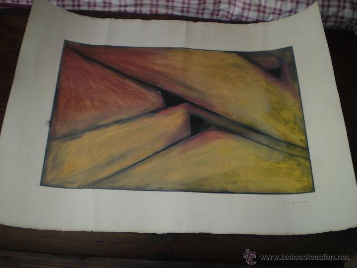 PINTURA ABSTRACTA FIRMADA Y FECHADA (Arte - Pintura Directa del Autor)