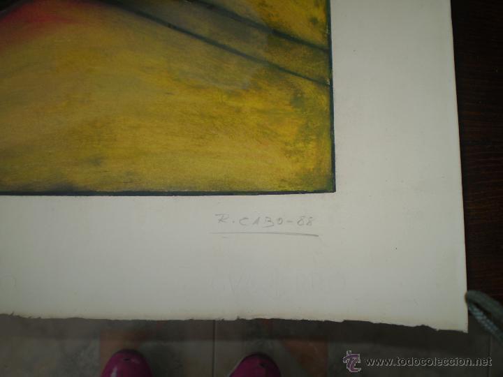 Arte: PINTURA ABSTRACTA FIRMADA Y FECHADA - Foto 2 - 42108723