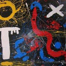Arte: INTERESANTE PINTURA ABSTRACTA BARATA CUADRO BARATO LIENZO ORIGINAL ARTE. SIMBOLISMO. Lote 127742668