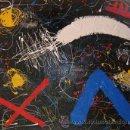 Arte: PINTURA ABSTRACTA BARATA CUADRO BARATO LIENZO ORIGINAL ARTE INTERESANTE OCASIÓN. Lote 42231646