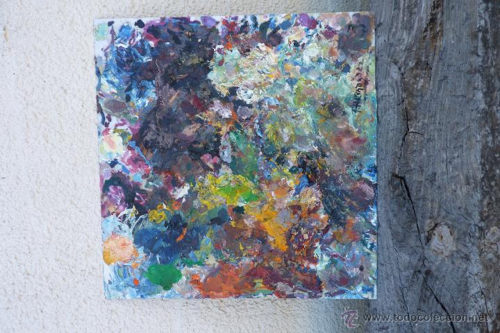 Arte: GENUINA PALETA UTILIZADA Y FIRMADA POR PACO HERNÁNDEZ - Foto 7 - 42231902