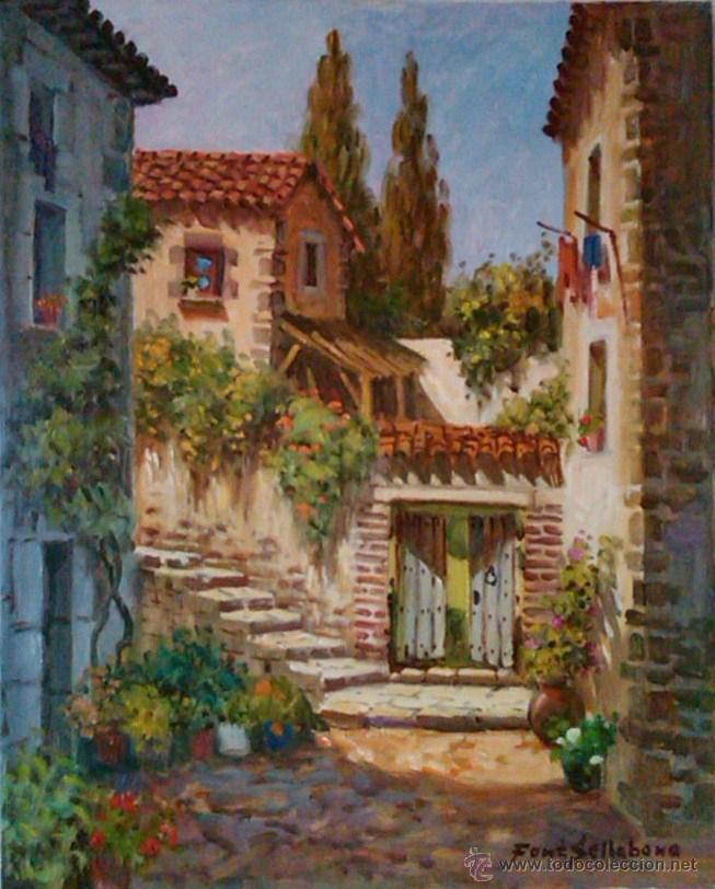 JOSEP FONT SELLABONA -- TOSSA -- OLEO/LIENZO FECHADO 1999 (Arte - Pintura - Pintura al Óleo Contemporánea )