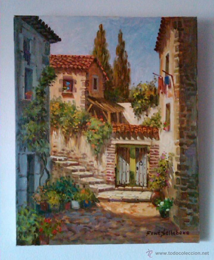 Arte: JOSEP FONT SELLABONA -- TOSSA -- OLEO/LIENZO FECHADO 1999 - Foto 2 - 42273831
