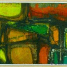 Arte: LUCIA FARAO (BUENOS AIRES 1927) INTERESANTE PINTURA ABSTRACTA FIRMADA, AÑO 1971.. Lote 42300615