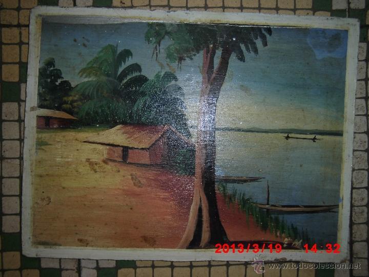OLEO SOBRE TABLA FIRMADO MEDIADOS SIGLO (Arte - Pintura - Pintura al Óleo Antigua sin fecha definida)