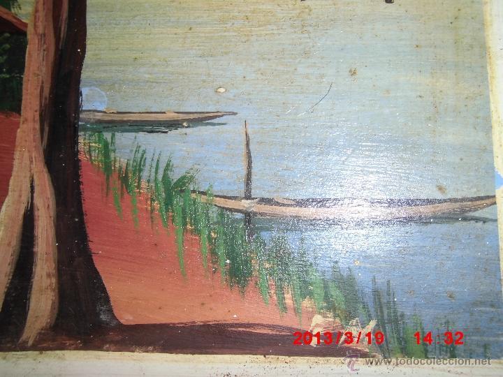 Arte: oleo sobre tabla firmado mediados siglo - Foto 2 - 42361645