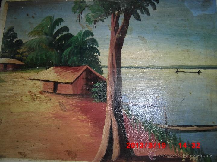 Arte: oleo sobre tabla firmado mediados siglo - Foto 3 - 42361645