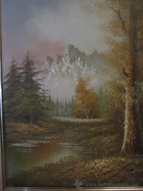 Arte: Paisaje invernal. Óleo sobre lienzo, enmarcado. - Foto 2 - 27588770