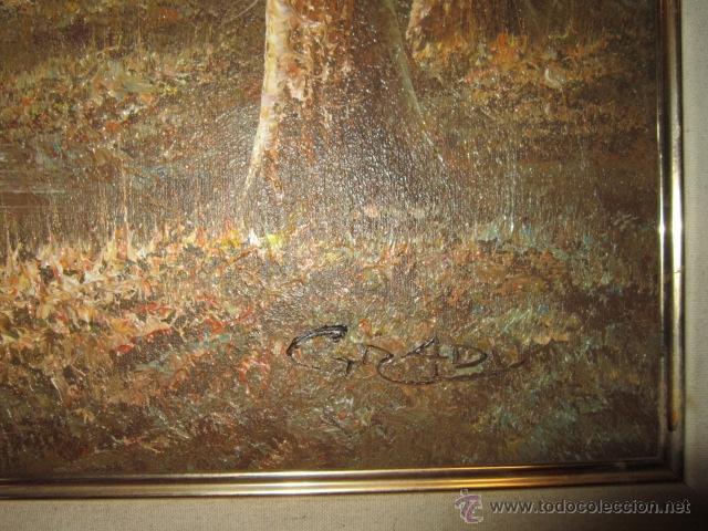 Arte: Paisaje invernal. Óleo sobre lienzo, enmarcado. - Foto 3 - 27588770