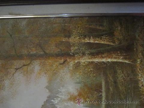 Arte: Paisaje invernal. Óleo sobre lienzo, enmarcado. - Foto 4 - 27588770