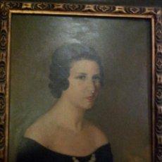 Arte: PRECIOSO RETRATO DE MUJER FIRMADO POR CAMINO EN 1937. Lote 42386059