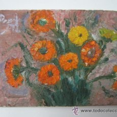 Kunst - Interesante pintura al oleo - firma ilegible - 42531491