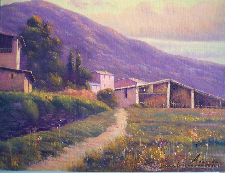ÓLEO PAISAJE MASIAS AUTOR ARANDA (Arte - Pintura - Pintura al Óleo Contemporánea )