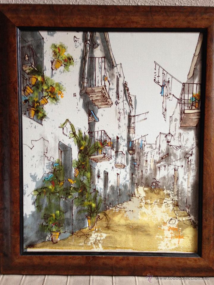 BERNARD DUFOUR. ACRILICO SOBRE LIENZO. CALLE ESPAÑOLA (Arte - Pintura - Pintura al Óleo Moderna sin fecha definida)