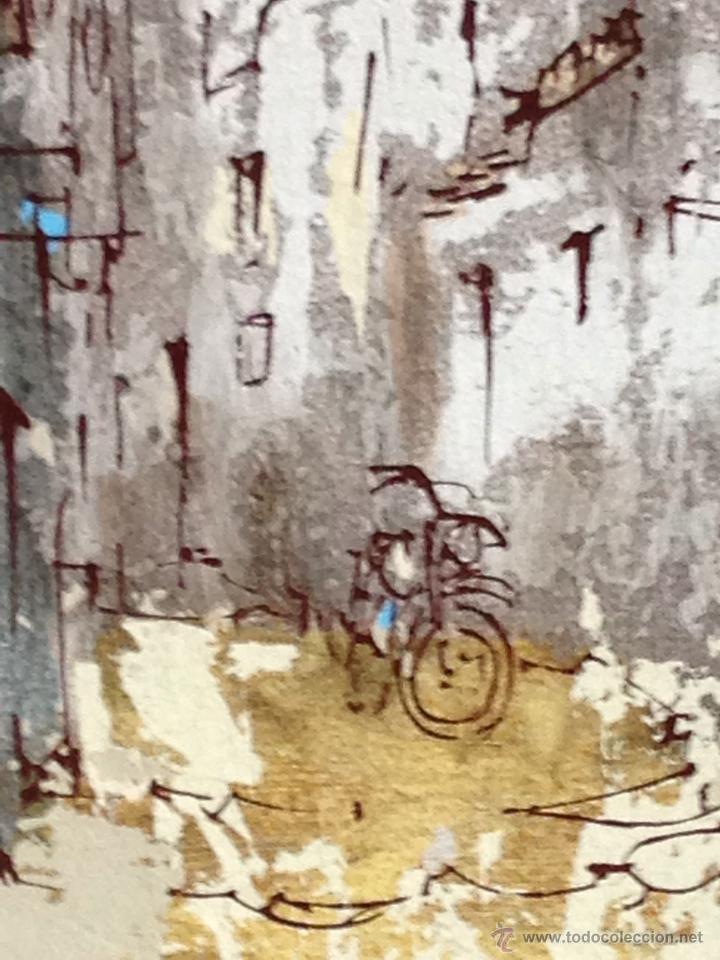 Arte: BERNARD DUFOUR. ACRILICO SOBRE LIENZO. CALLE ESPAÑOLA - Foto 3 - 42547768