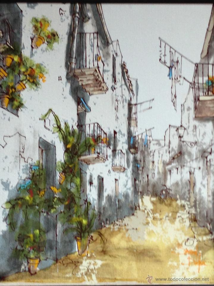 Arte: BERNARD DUFOUR. ACRILICO SOBRE LIENZO. CALLE ESPAÑOLA - Foto 6 - 42547768