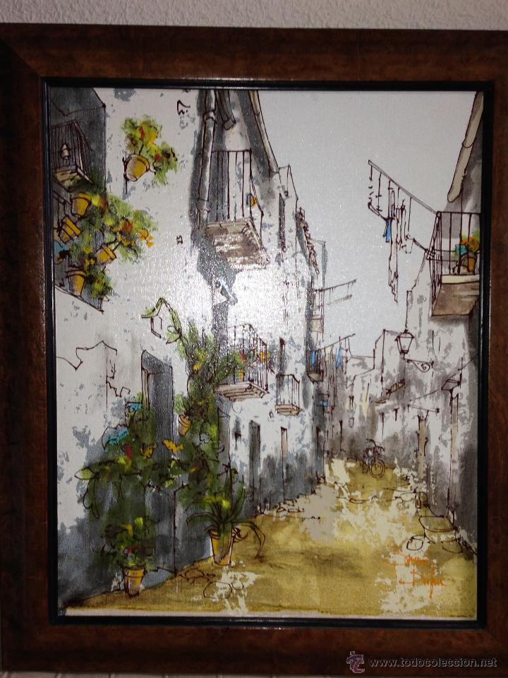 Arte: BERNARD DUFOUR. ACRILICO SOBRE LIENZO. CALLE ESPAÑOLA - Foto 8 - 42547768