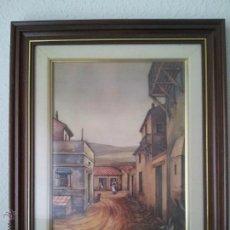 Arte: COSTUMBRISTA PAISAJE RURAL CUADRO EN RELIEVE FIRMADO EN PLACA A.MORENO. Lote 42562209