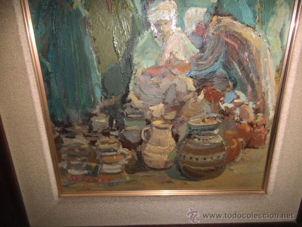 Arte: OLIVER - ÓLEO SOBRE TABLA DE FRANCESC OLIVER FRADERA , FIRMADO - Foto 4 - 42563398