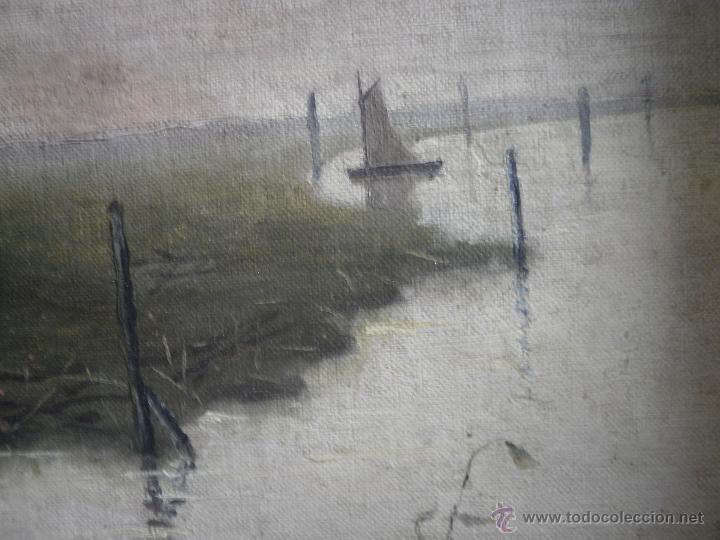 CUADRO MARINO (Arte - Pintura - Pintura al Óleo Moderna siglo XIX)