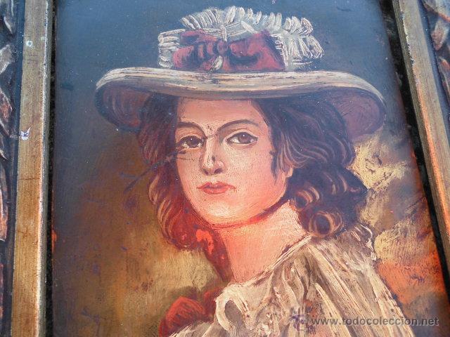 ANTIGUO PEQUEÑO CUADRO, ÓLEO SOBRE COBRE (Arte - Pintura - Pintura al Óleo Antigua sin fecha definida)