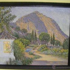 Arte: PINTURA AL ÓLEO DEL IMPRESIONISTA JOAQUIN TUDELA PERALES SIGLO XIX, XÀTIVA, JATIVA, VALENCIA. Lote 42896317