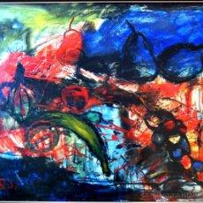 """Arte: JORDI MERCADÉ I FARRÉS: COMPOSICIÓN, ÓLEO SOBRE LIENZO, FIRMADO """"JORDI"""", 72X53 CM (88X68'5 MARCO). Lote 42942157"""