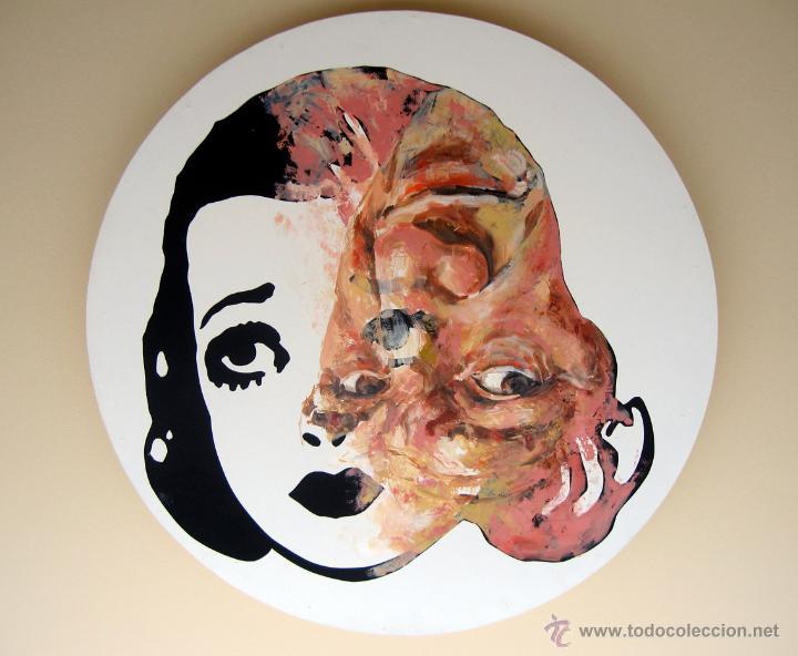 PINTURA CONTEMPORÁNEA FIGURATIVA RETRATO HOMBRE Y BETTY BOOP (Arte - Pintura - Pintura al Óleo Contemporánea )