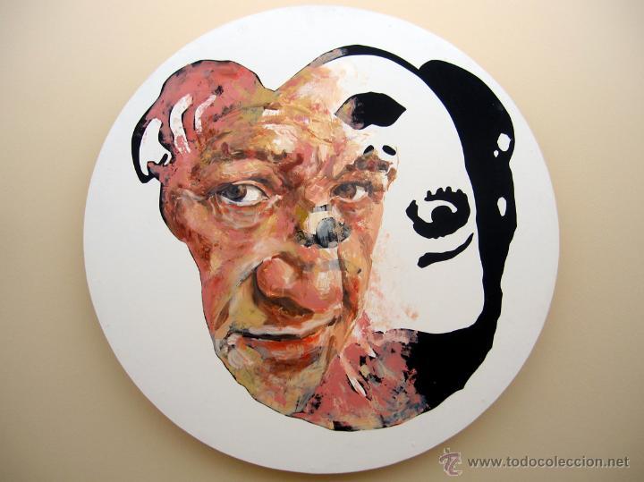 Arte: Pintura contemporánea figurativa retrato hombre y Betty Boop - Foto 2 - 42955335