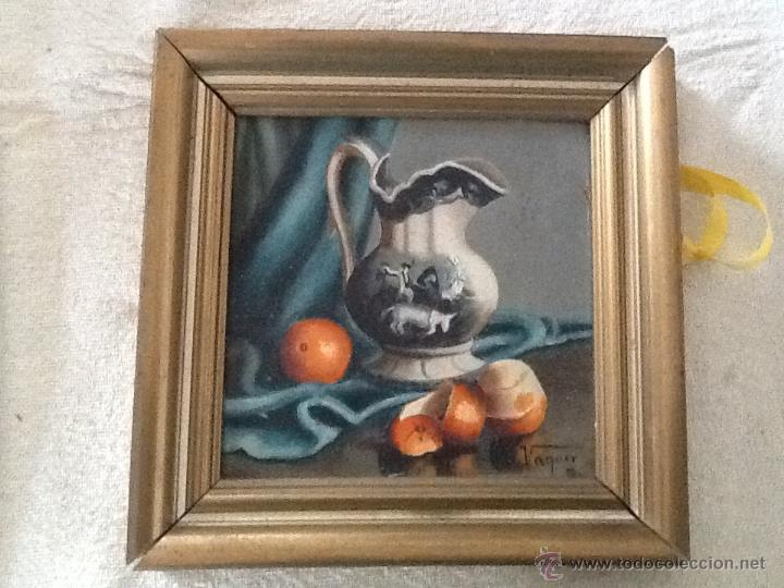ANTIGUA MINIATURA AL OLEO. FIRMADA POR V. VAQUER (Arte - Pintura - Pintura al Óleo Contemporánea )