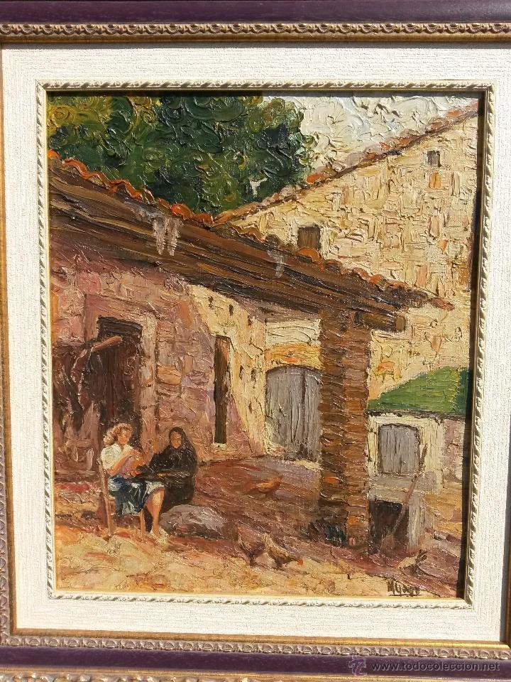 pintura al oleo sobre carton con años firmada d - Comprar Pintura al ...
