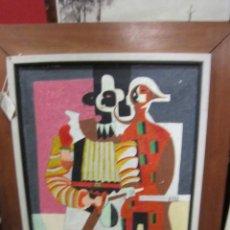 Arte: ÓLEO SOBRE LIENZO ABSTRACTO - MOTIVO PICASIANO - SIN FIRMA. PROCEDE DE NEW YORK. 40 X 54 CMS.. Lote 43053814