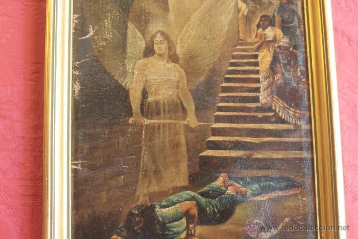 ESCENA HISTÓRICA. ÓLEO SOBRE LIENZO. S. XIX (Arte - Pintura - Pintura al Óleo Moderna siglo XIX)