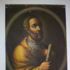 Arte: OBRA OLEO LIENZO APOSTOL SAN JUDAS TADEO 7° SIGLO XVIII PINTURA BARROCO AUTOR DESCONOCIDO PINTOR. Lote 51622624