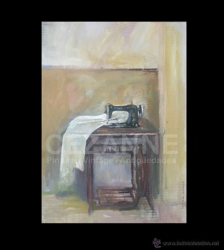 DOMINGO CORREA. ÓLEO SOBRE LIENZO. 'MAQUINA DE COSER I'. FIRMADO. 46 X 33 CM (Arte - Pintura Directa del Autor)