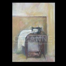 Arte: DOMINGO CORREA. ÓLEO SOBRE LIENZO. 'MAQUINA DE COSER I'. FIRMADO. 46 X 33 CM. Lote 43103989