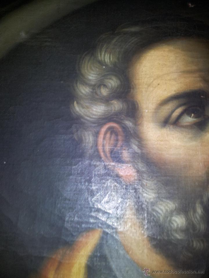 Arte: OBRA OLEO LIENZO APOSTOL SAN JUDAS TADEO 7° SIGLO XVIII PINTURA BARROCO AUTOR DESCONOCIDO pintor - Foto 5 - 51622624