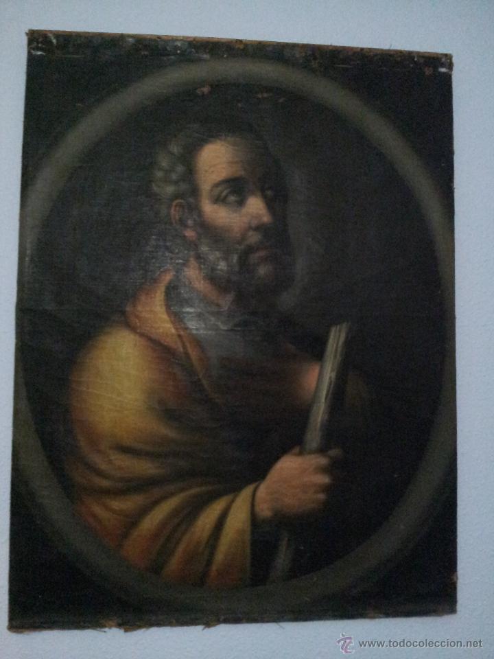 Arte: OBRA OLEO LIENZO APOSTOL SAN JUDAS TADEO 7° SIGLO XVIII PINTURA BARROCO AUTOR DESCONOCIDO pintor - Foto 15 - 51622624