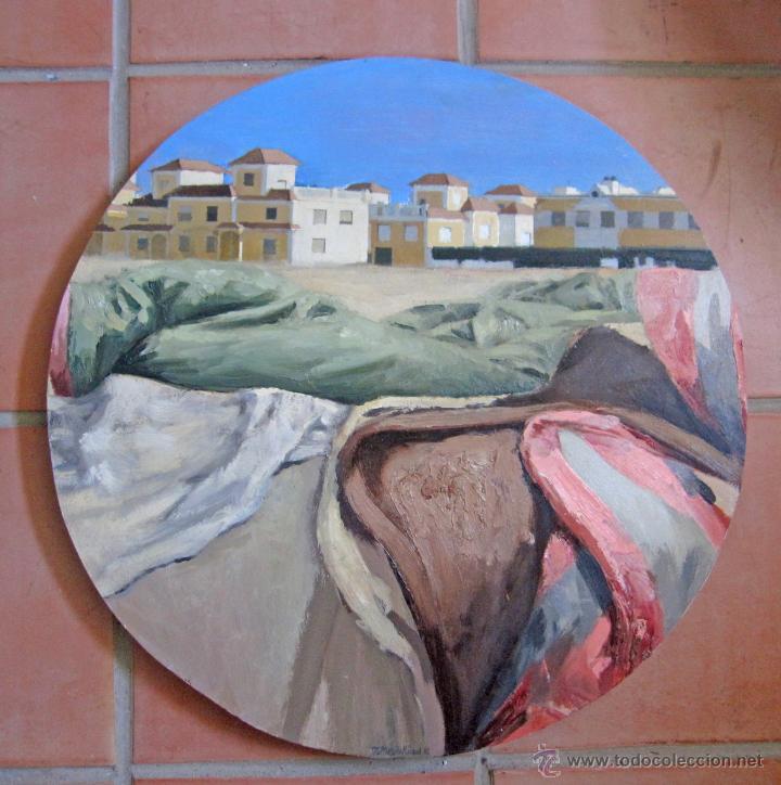 PINTURA CONTEMPORÁNEA FIGURATIVA FORMATO CIRCULAR PAISAJE (Arte - Pintura - Pintura al Óleo Contemporánea )