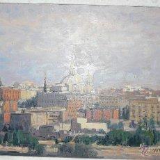Arte: ÓLEO SOBRE LIENZO PAISAJE DE MADRID MANUEL MUÑOZ BARBERÁN - ABC 085. Lote 43145881