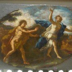 Arte: APOLO Y DAFNE DE LA ESCUELA ROMANA DEL S.XVII. CIRCULO DE NICOLAS POUSSIN. Lote 43426059