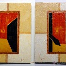 Arte: 2 ÓLEOS SOBRE TELA, TEMA ABSTRACTO. -FIRMADOS ANCHI-. Lote 43428356