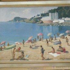 Arte: PLAYA DE SAN FELIU DE GUIXOLS ( GERONA ). OBRA DE F.GALOFRE SURÍS. 1977.. Lote 43490300