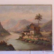 Arte: OLEO SOBRE LIENZO ESCUELA CENTROEUROPEA 1892. Lote 43498453