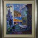 Arte: C4-034 - JOAN CONDINS I JULIAN (1929-2001) - TOSSA CARRER SA MURALLA - OLEO/LIENZO - 1987. Lote 168020853