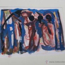 Arte: PINTURA CONTEMPORANEA ORIGINAL DE EL ARTISTA FRANCES DE BURDEOS DE LOS 50 JEAN ROQUELAURE. Lote 43586726